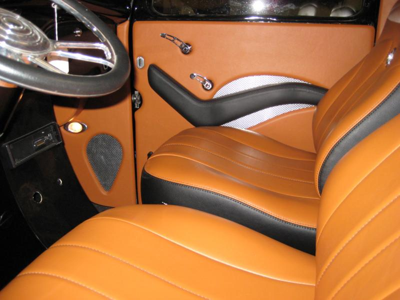 1935 Ford Pickup Leather Interior